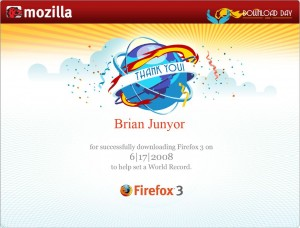 Firefox 3 grabs Guinness World Record